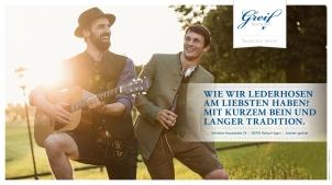 Anzeigenstrecke für das Trachtenhaus am Tegernsee