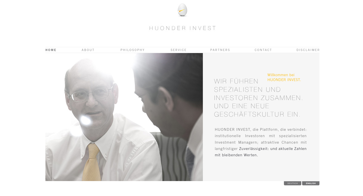 Webseite Huonder Invest