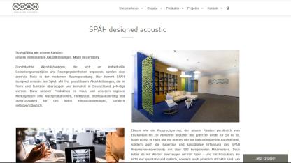Webtexte SPÄH designed acoustic